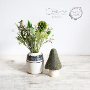 Bouquet fleurs séchées • vase porcelaine • Origine Atelier floral • Sandra Coelho