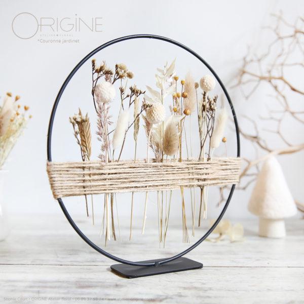 couronne-fleurs-séchées-origine-atelier-floral