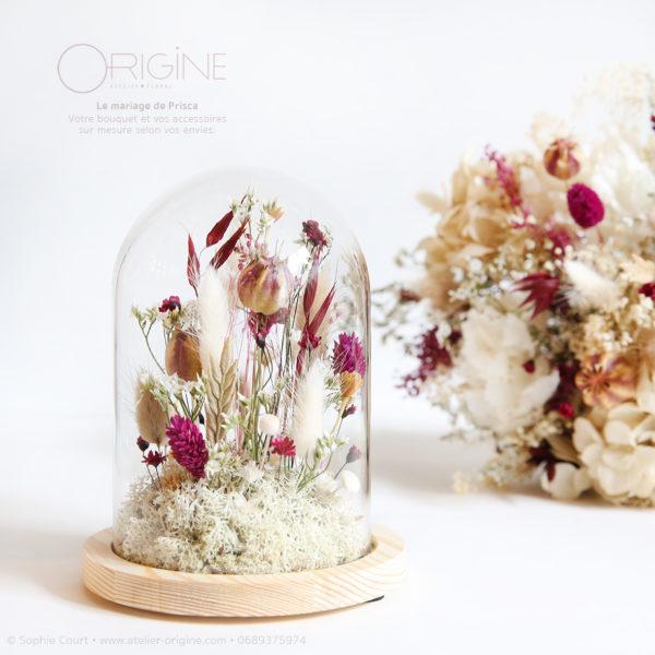 fleurs-séchées-bouquet-boucles-d'oreilles-globe-origine-atelier-floral-mariage-prisca