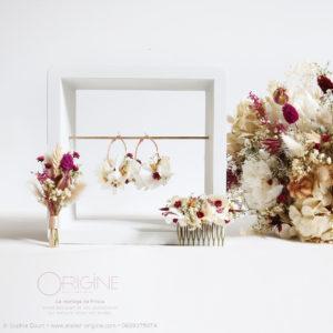 fleurs-séchées-bouquet-boucles-d'oreilles-origine-atelier-floral-mariage-prisca6