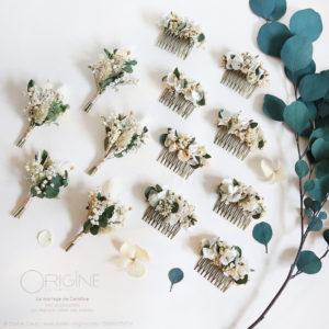fleurs-séchées-mariage-origine-atelier-floral-peigne-boutonnière-eucalyptus-