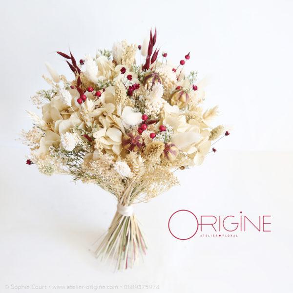 bouquet-de-fleurs-séchées-mariage-ivoire-et-bordeaux-origine-atelier-floral