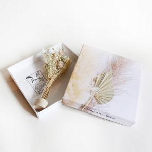 bouquet de fleurs séchées tableau photo duo origine moment suspendu