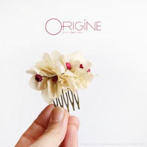 peigne-de-fleurs-séchées-mariage-ivoire-et-bordeaux-origine-atelier-floral