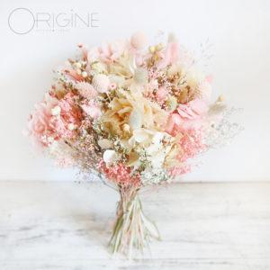 Bouquet-mariage-fleurs-séchées-rose-et-blanc-origine-atelier-floral-commande-sur-mesure