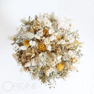 bouquet-de-mariée-fleurs-séchées-beige-et-jaune-origine-atelier-floral