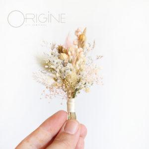 boutonière-de-marié-fleurs-séchées-mariage-rose-et-blanc-origine-atelier-floral