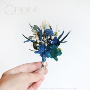 mariage-fleurs-séchées-stabilisées-bleu-marine-et-bleu-canard-Origine-atelier-floral11